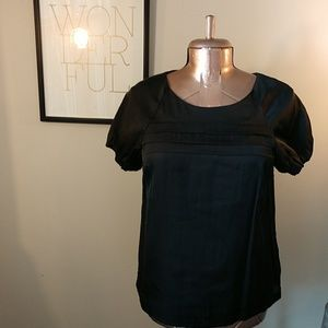 GAP Short Sleeved Black Blouse- Size M